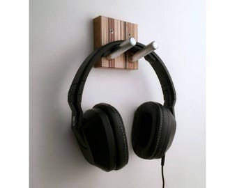 Headphone Hook, Studio Decor, DJ Gift, Audiophile Gift, Wall Headphones Hook