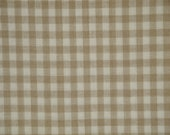 Check Fabric | Wheat And Cream Medium Check Homespun Fabric | Cotton Home Decor Fabric | Primitive Fabric | Farmhouse Fabric | Sewing Fabric