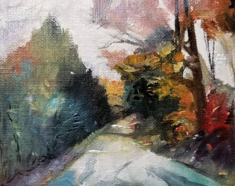 "A Passing Glimpse Oil Painting 4x4""  Original"