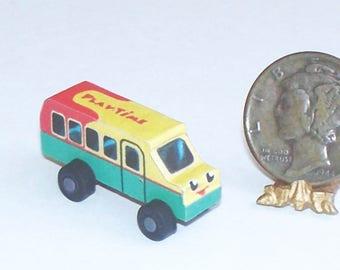 Little Bus Toy Dollhouse Miniature 1:12