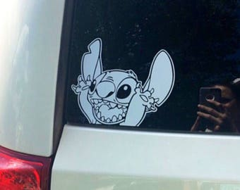 Waving Stitch Disney Inspired Vinyl Car, Laptop, or Decor Decal