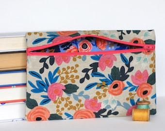 Rifle Paper Co Floral Makeup Bag Pencil Case Handmade