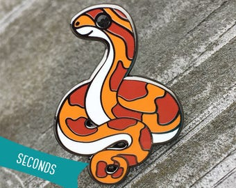 Corn Snake Enamel Lapel Pin ~ Normal (SECONDS SALE)