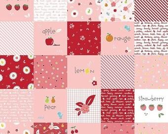 ON SALE Riley Blake Designs Sweet Orchard Designer Cloth Pink