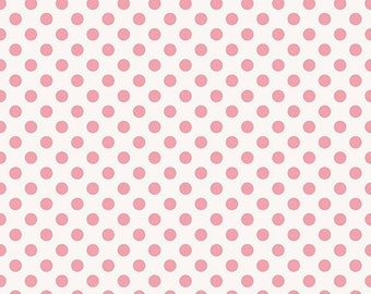 20%OFF Riley Blake Designs Garden Girl by Zoe Pearn - Dot Pink