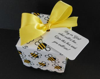 Gender Reveal Party Favor Box with Tag and Ribbon - Gender Reveal Party - Baby Shower - Party Favor - Bee