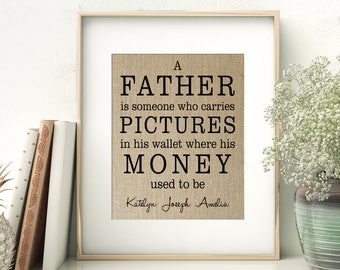 A Father Is Someone | Definition of Father print | Father's Day Birthday Gift from Children | Gift for Dad from Daughter Son