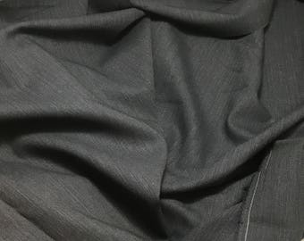 """Navy Blue - WOOL Suiting Fabric 54"""" -By The Yard-"""