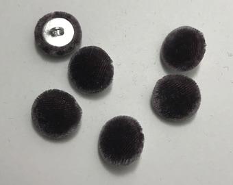 """Amethyst Purple SILK VELVET Fabric Buttons - Hand Made Buttons - set of 6 - 5/8"""""""