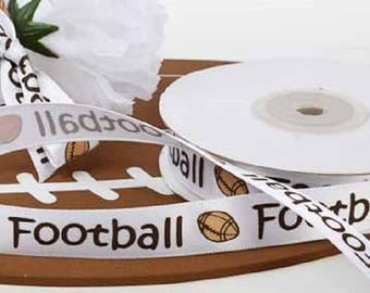 "Football Ribbon 5/8"" X 25 Yards - NIP"