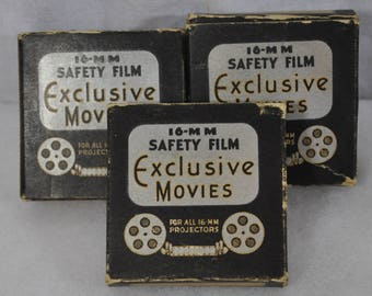 Lot of 3 16 MM Safety Film by Exclusive Movies - Mutt and Jeff, Moore Mice and Cuckoo Comedy