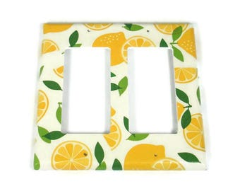 Double Rocker Switch Plate Light Switch Cover in Lemonade (292DR)