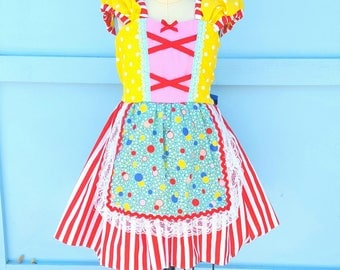 CLOWN costume for girls, Cute CLOWN costume toddler girl, Halloween Costume, toddler costume, baby costume,  Halloween outfit girls, circus