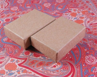STOREWIDE SALE 20 Pack Kraft Cotton Filled Jewelry Presentation Boxes 1.85X1.25X5/8 Inch Size Itty Bitty Boxes