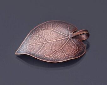 Small Copper Redbud Leaf Ornament, Copper Leaf Ornament, Home Decor, Holiday Ornament, Copper Leaf Pendant