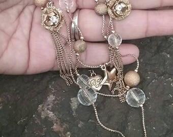 Betsy Johnson Charm Necklace,  Charm Necklace,  Designer Necklace,  Necklace