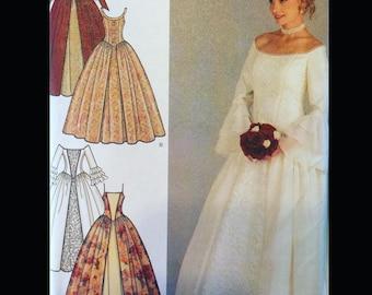 Princess Seam Bell Sleeve Ren Wedding Bridesmaid Gown Dress Sewing Pattern 4731 14 16 18 20