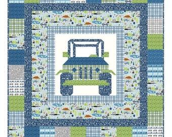 Off Road Quilt KIT by Kelli Fannin Quilt Designs KFQP129