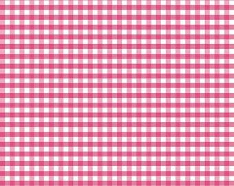 Riley Blake Designs, Medium Gingham in Hot Pink (C450 70)
