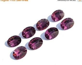 50% Off Sale 8Pcs 4 Pair AAA Amethyst Quartz Concave Cut Oval Briolette 16x12mm Concave Cut Oval Gems (Drill Hole You Choose)