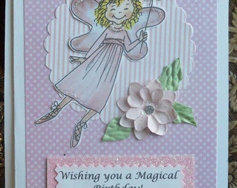 Girl's Magical Fairy Birthday Card