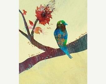 50% Off Summer Sale - 24x36 Art Print - The World Standing Still - 24 x 36 LARGE Print - Bird Art