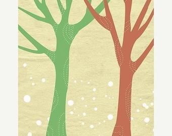 50% Off Summer Sale - Trees Artwork Print - 8x10 - Just Us