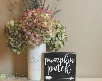 Pumpkin Patch Mini Block Wood Sign - Halloween Decor - Wood Sign - Wooden Signs - Funny Sayings - Quotes - Small MiniBlock M015