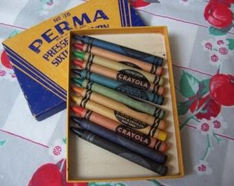 box of perm vintage crayons