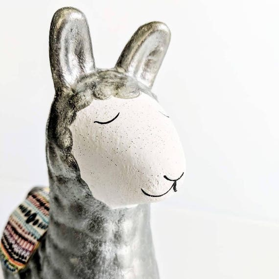Llama Coin bank: hand painted ceramic coin bank piggy bank