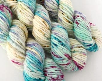 NEREID - Hand Dyed Yarn - Chunky Singles Merino Nylon Yarn - Ready to Ship - Vivid Yarn Studio