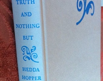 VINTAGE AUTOBIOGRAPHY BOOK Hedda Hopper, 1963 celebrity hollywood personalities, photos, gossip fun read collectible