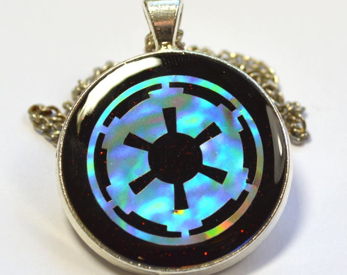Holographic Star Wars Imperial Crest Sci-Fi Geeky Resin Pendant