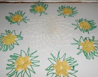 Vintage Crochet Flower Dollie, Handmade Crochet Dollie