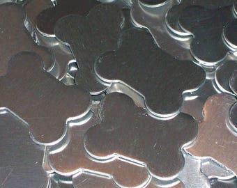 Pewter Dog Bone - Qty 3,  Dog Tags, Bopper, Key Chain, Stamping Blanks, Metal Stamping Blanks, Etching Blanks, Engraving Blanks