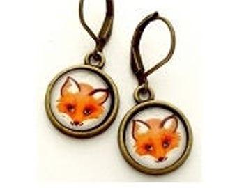 Fox Photo Earrings  Nickel Safe