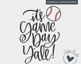 Baseball SVG | It's Game Day Y'all | Baseball Mom SVG | Sports SVG | Mom svg | Baseball Cut File | Baseball Quote svg | Sports Cut File