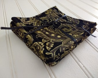 Set of 4 Quilted Coasters - Montana Paisley