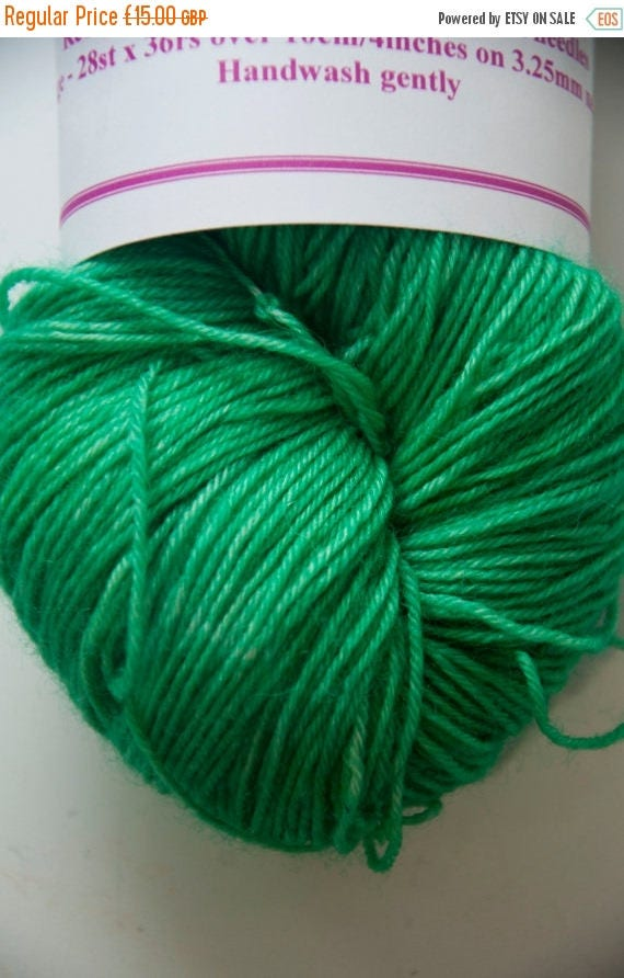 Christmas In July Hand-Dyed Yarn in Elphaba Colourway 4ply Superwash BFL Sturdy Base