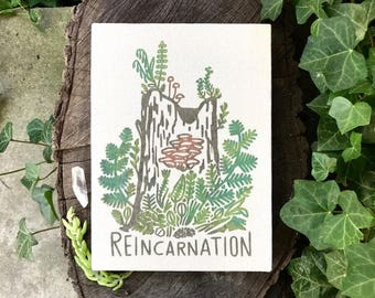 Reincarnation Canvas Screen Print