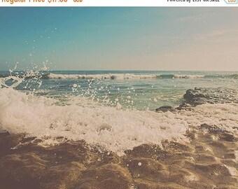 SALE ocean waves photograph, beach photography, San Diego print, beachscape wall art, summer print, blue, yoga decor, girls room, 16x20, 8x1