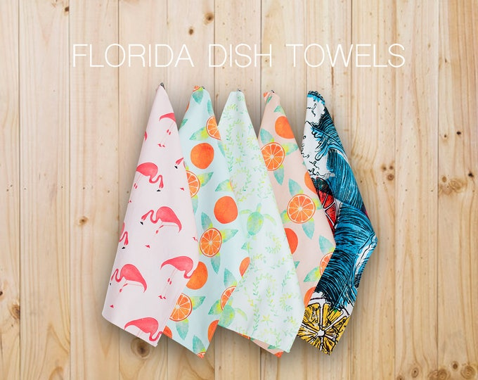 Featured listing image: Florida Dish Towels Set of Five