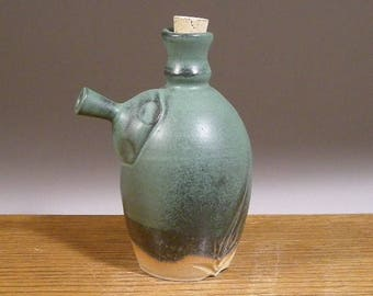 Clearance SALE , Ewer Style Olive Oil Bottle , Vinegar Bottle , Ceramic Cruet , Pouring Bottle , by Jon Whitney Pottery