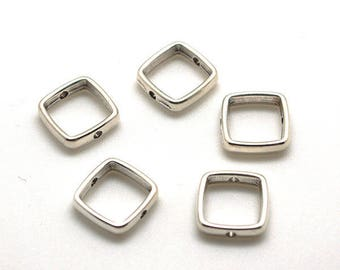 spacer 5 square silver metal