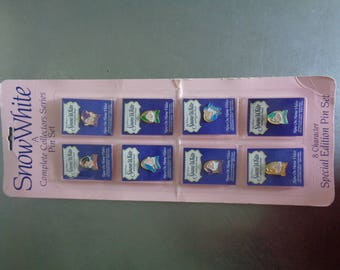 Vintage Sealed Snow White A Complete Collectors Series Pin Set 8 Character Special Edition Pin Set Made in Taiwan