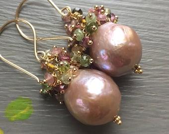 Edison Pearl Cluster Earrings