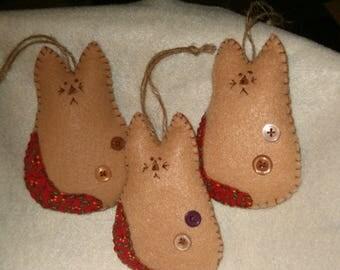 Christmas Kitty Ornaments OFG