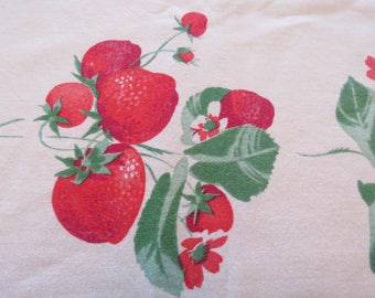 Vintage Starwberry Summer  Tablecloth