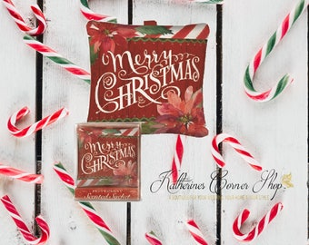 Vintage Inspired Merry Christmas Peppermint Sachet