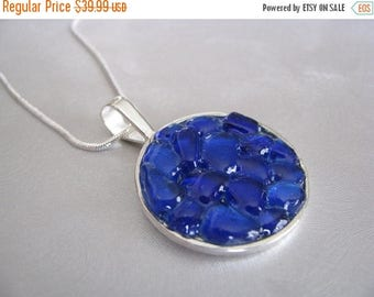 SEA GLASS SALE Sea Glass Jewelry - Cobalt Blue - Sea Glass Necklace - Unique jewelry - Beach Glass Jewelry